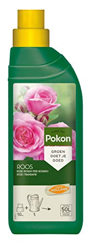 Pokon Rosen-Flüssigdünger, für alle Rosen auf Balkon oder Terrasse, 500 ml