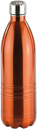 Rosenstein & Söhne Botella de enfriamiento: Matraz de vacío de doble pared fabricado en acero inoxidable, 1,0 litro (Dosis de vacuna ácido carbónico)