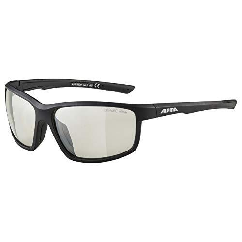 ALPINA DEFEY Sportbrille, Unisex– Erwachsene, Schwarz, one size