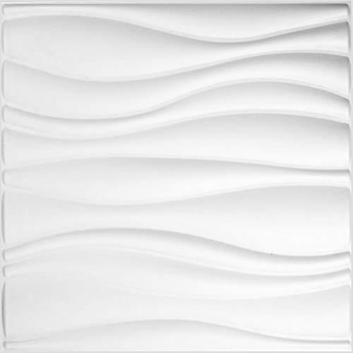 Revestimiento De Paredes 3D Waves 3m² | 12 Paneles Decorativos 3d de 50x50cm | Paneles Decorativos Para Pared WallArt, Papel Pintado 3d | Friso Para Pared, Paneles Acusticos, Panel De Pared 3d