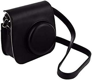 SKEIDO Black Leather Camera Strap Bag Case Cover Pouch Protector For Polaroid Camera For Fuji Fujifilm Instax Mini 8