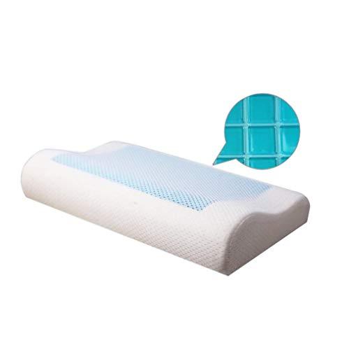 AI CHEN Schlafkissen Memory Foam Kissen Slow Rebound Gel Kissenbogen hoch und niedrig ergonomisch bequem im Nacken Kinder Studentenbett Gebärmutterhalskissen Plus Modelle 60 * 30 * 10/7 cm