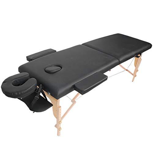 Cocoarm Table de Massage Mobile Lit de Massage Portable Professionnel avec Pieds en Bois réglables...