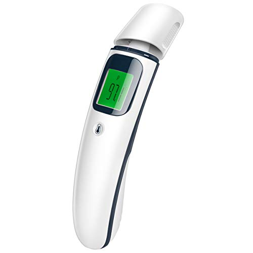 Digital Forehead and Ear Thermometer Baby Thermometer Professional Infrared Temporal Fever Thermometer 1s Instant Accurate Reading for Baby Kids Adults Indoor Outdoor