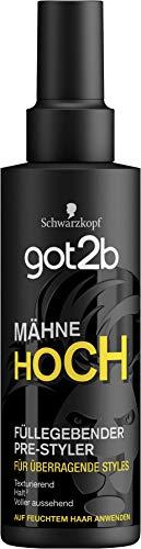 got2b Füllegebender Pre-Styler Spray Mähne Hoch, 6er Pack(6 x 150 ml)