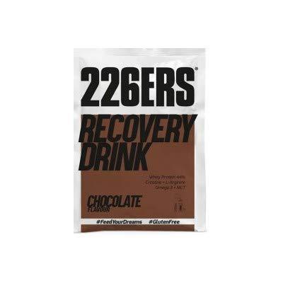 226ERS Recovery Drink Monodosis, Recuperador a base de Proteína, Creatina, Hidratos de Carbono, Lino Dorado, Triglicéridos y L-Arginina, Chocolate - 15 unidades x 50 gr