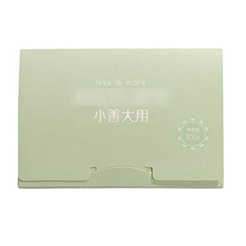 Tissus de blotting d'huile portatifs d'été de thé vert pour le visage, 300 feuilles