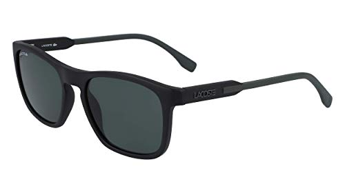 Lacoste Herren L604SND Sunglasses, Matte Black-Green, One Size