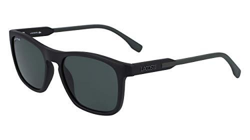 Lacoste Herren L604SND Sunglasses, Matte Black-Green, 5418