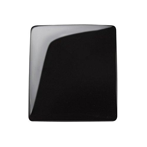 Lapis Vitalis Obsidian-Spiegel rechteckig, gewölbt geschliffen, groß, circa 14xs12 cm, in Tüte, 1er Pack (1 x 279 g)