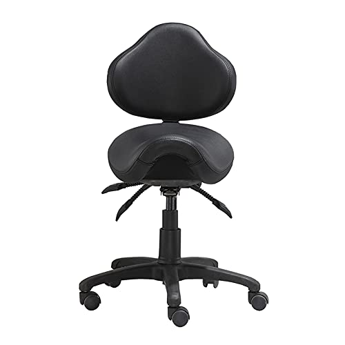 Adjustable Saddle Stool Chairs Professional Ergonomic with Back Support Hydraulic Rolling Swivel Stool Chair for Clinic Hair Salon Lab Kitchen Home Office Drafting Chairs