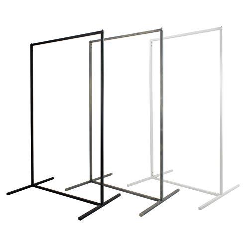 Natural Goods Berlin Kleiderständer Rechteck Design Garderobe freistehend | Metall | minimalistisch | stabil | DIY (Schwarz, H 140cm x B 80cm)
