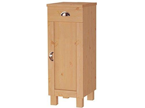 Loft24 Tuscany Badezimmer Schrank Unterschrank Badschrank Kommode Badmöbel Kiefer massiv, 1 Schublade, 1 Tür (gebeizt geölt)