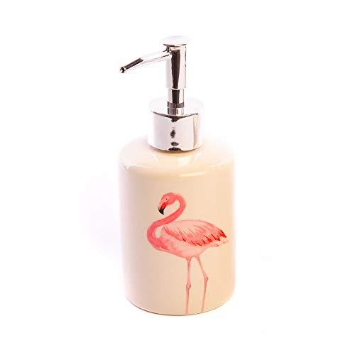 Sifcon Flamingo Seifenspender Flüssigseife Pumpe für Bad und Küche