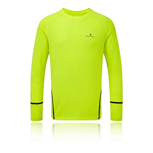 Ronhill pour Homme Stride Course à Pied à Manches Longues en Encolure Ras du Cou XL Fluo Yellow/Charcoal