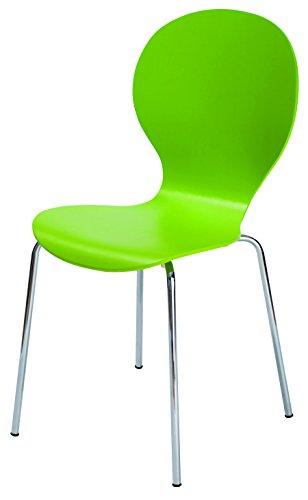 Fashion Home Stuhl 4er Set Silhouette A5 grün 52x52x87 cm