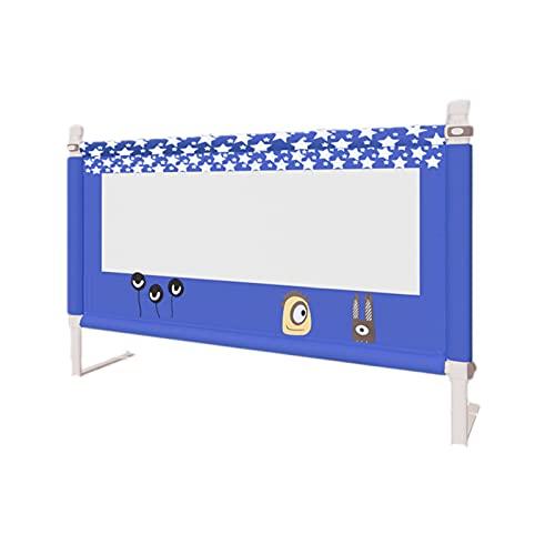 (Un Solo Lado) Barandilla De Cama De Elevación Vertical Barandilla De Cama Universal Ultra Alta para Niños Se Adapta con Seguridad A La Mayoría De Las Camas,Azul