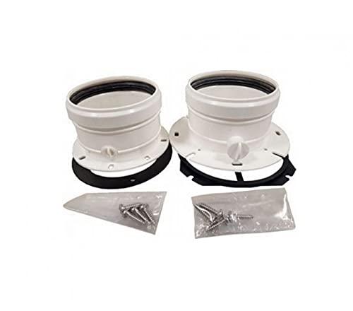 Kit de desagüe para caldera de conductos separados 80-80 sumergibles sin humos, plástico PPS