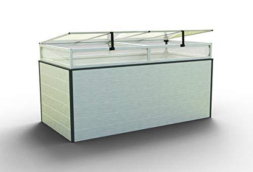 GFP Christina Aluminium Hochbeet für den Garten - 195x99x77cm, formstabil und witterungsbeständig auch bei Hagel mit Aluminium-Hohlkammerprofilen, Verschiedene Sets vorhanden - Made in Austria