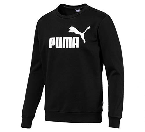 PUMA Men's ESS Logo Crew Sweat FL Big Logo, Puma Black, L