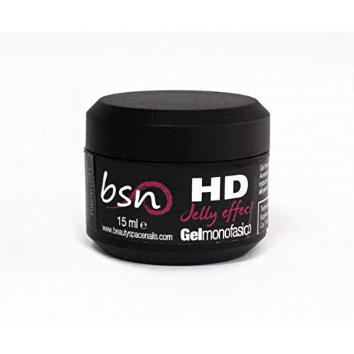 Beauty Space Nails HD Jelly – Gel UV Monophase à Haute densité pour Reconstruction des Ongles – 15 ML