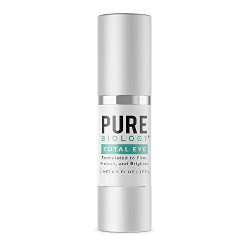 31JOoa4djfL - Pure Biology Premium Total Eye Cream Serum - Anti Aging Vitamin C, E & Hyaluronic Acid Reduce Dark Circles, Puffiness, Under Eye Bags, Wrinkles & Fine Lines for Men & Women (0.5 oz)