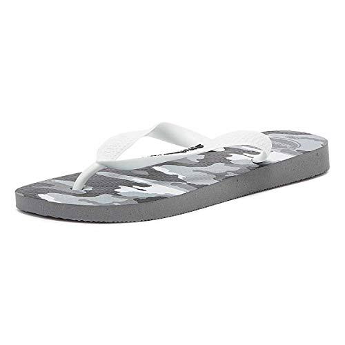 Havaianas Herren Top Camu Zehentrenner, Mehrfarbig (Steel Grey/White), 41/42 EU