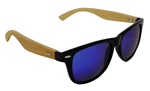 Echo Bamboo - Gafas de sol polarizadas con espejo azul turquesa Cat-3 UV400