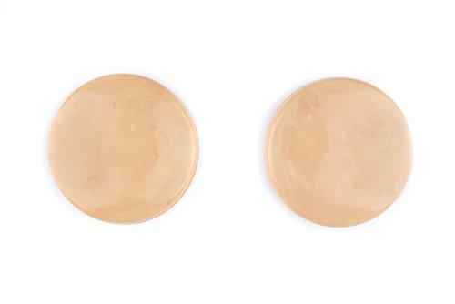 Ruther & Einenkel Magnet-Dekoknöpfe groß rund, Hellbraun marmoriert, Durchmesser 42 mm/Aufmachung 2 Stück, Kunststoff, 4.5 x 4.5 x 1.5 cm, 2-Einheiten
