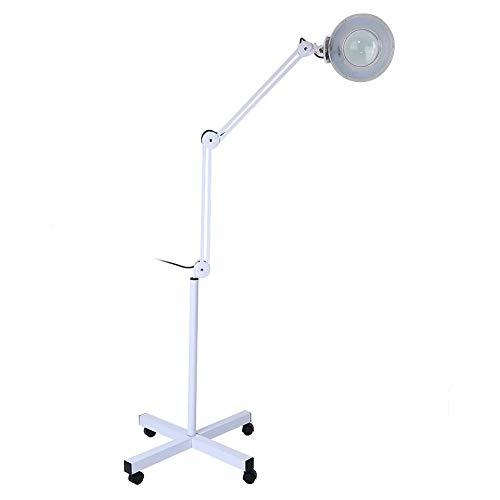Lampara Led Pie Estetica Lampara Estetica Con Lupa Lupa Estetica Profesional Lámpara De Trabajo 5 X Aumento Lámpara De Pie...