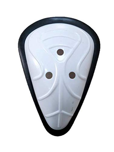 HeadTurners Poly Plastic Cox Men Abdominal Guard Full Size-Color May Vary - White, Youth