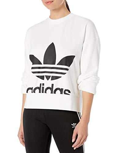 adidas Originals Women's Sweater Sweatshirt, White, Small