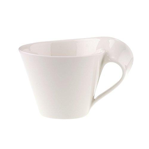 Villeroy und Boch NewWave Caffè Café au Lait-Tasse, 400 ml, Höhe: 10,1 cm, Premium Porzellan, Weiß