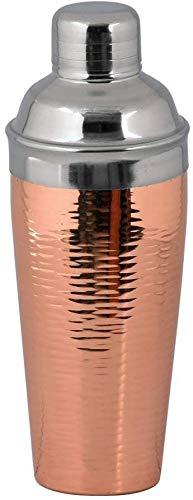 Kosma - Shaker per cocktail in acciaio INOX, finitura martellata e finitura in rame, 750 ml