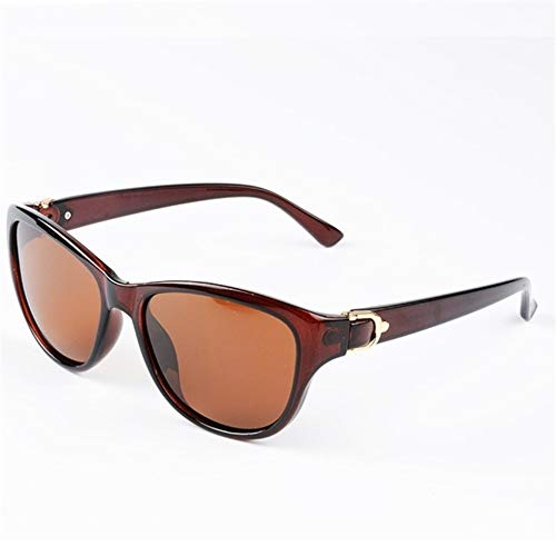 N\A Gafas de Sol de Moda 2020 de Lujo del Gato de los Ojos Gafas de Sol polarizadas for Mujer Dama Elegante Gafas de Sol Gafas de conducción Femenino (Lenses Color : Brown Brown)