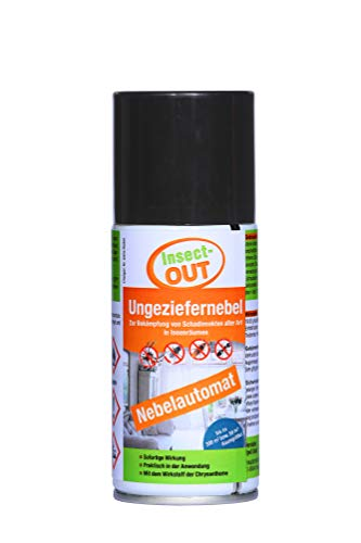 Insect-OUT® Ungeziefernebel 150 ml | Sofort- und Langzeitwirkung bis zu 6 Monaten | Für Innenräume | Mit dem Wirkstoff der Chrysantheme