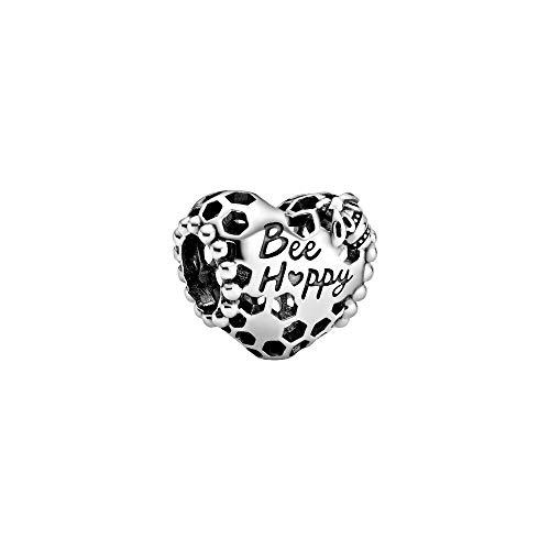Pandora 798769C00 - Ciondolo a forma di cuore a nido d'ape, 1 cm, colore: Argento