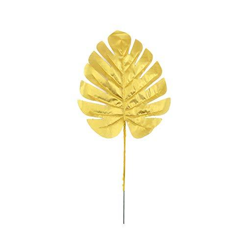 Duoying Hojas doradas artificiales, hojas persas, hermosas hojas de simulación creativas, para boda, fiesta, decoración de mesa de tela tropical