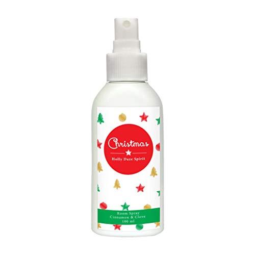 Weihnachtlicher Raumduft & Lufterfrischer Spray I 100 ml |Duftspray mit Zimt, Orange & Ätherischen Ölen I Ideales Weihnachtsgeschenk I Alternative zu Duftkerzen I Dekoration für die Festtage