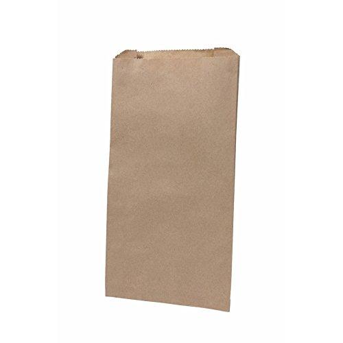 BIOZOYG Bio Papierbeutel Brötchentüten Faltenbeutel Papier-Tüten kompostierbar I Biologisch abbaubare Tüten für Brötchen Semmel Backwaren I 1000 Bäcker-Beutel Flachbeutel braun 15x6x28 cm