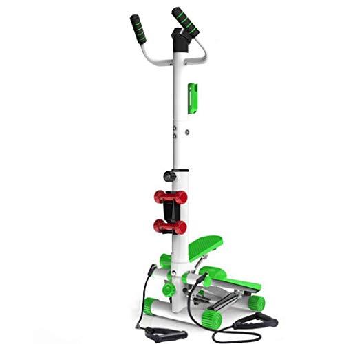 T-Day Stepper Máquinas de Step Máquina Paso Ajustable con empuñadura Plegable Entrenamiento Escalera Paso a Paso silencioso Inicio Escalada máquina multifunción Equipo de la Aptitud (Color : Green)