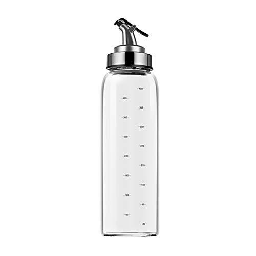 spier botella dispensador de aceite, envase de vidrio de condimentos líquidos con escala de grado para cocina