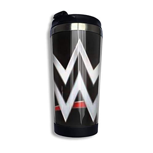 W-W-E Taza de café de acero inoxidable taza de viaje botella de agua para mantener caliente o frío 400 ml