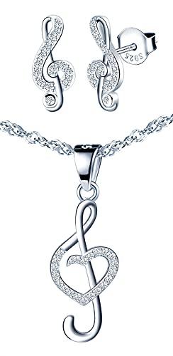Yumilok-Colgante de piedra con incrustaciones de forma de nota hueca S925 aretes de plata pendientes de diamantes pendientes de botón de nota artículos de moda para mujeres