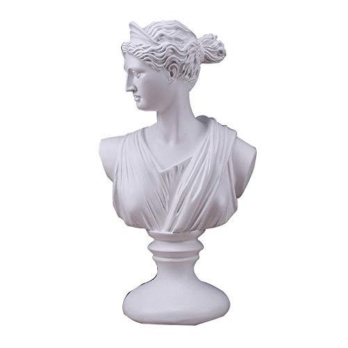 LUCKY-SCUL Griechische Göttin Statue, Hauptdekoration, Skulptur/Statue, Sammlerstücke, Harz Handwerk, geeignet für Wohnzimmer, Schlafzimmer, Büro (17 x 11,5 x 30 cm)
