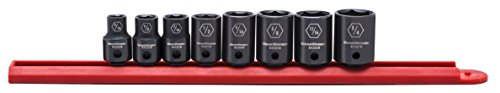 GEARWRENCH 8 Pc. 3/8' Drive 6 Pt. Standard Impact Socket Set, SAE - 84910N