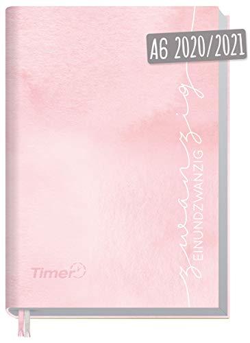 Chäff-Timer Mini A6 Kalender 2020/2021 [Rosa Aquarell] Terminplaner 18 Monate: Juli 2020 bis Dez. 2021 | Wochenkalender, Organizer, Terminkalender mit Wochenplaner - nachhaltig & klimaneutral