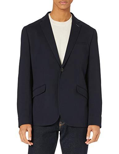 Springfield Blazer Textura PIQUÉ, Azul Oscuro, XL para Hombre