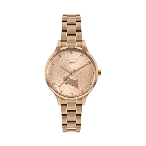 Radley Wilton Way Ladies Rose Gold Stainless Steel Bracelet Stone Set Dial Watch RY4518