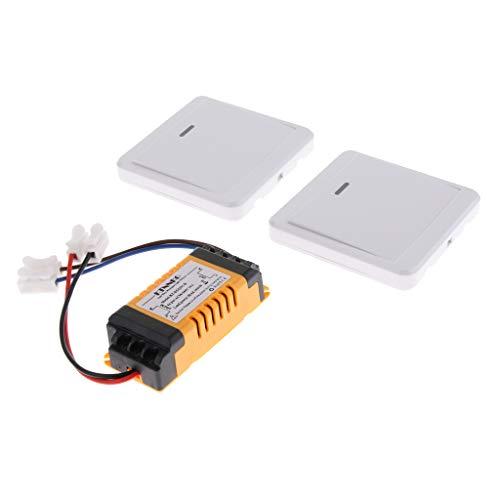 #N/a Interruptor de Luz Inalámbrico de 1 Vía Lámpara de Techo Interruptor de Pared Interruptor de Radio Conjunto con